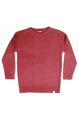 DEWERSTONE LOOSE KNIT SWEATER - CHERRY