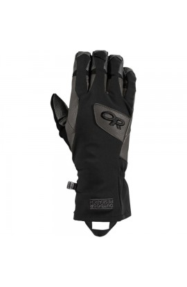 OUTDOOR RESEARCH SUPER VERT GLOVES - BLACK/CHARCOAL