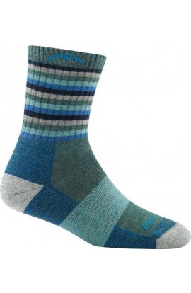 DARN TOUGH WOMENS MICRO CREW CUSHION - AQUA STRIPE (1904)