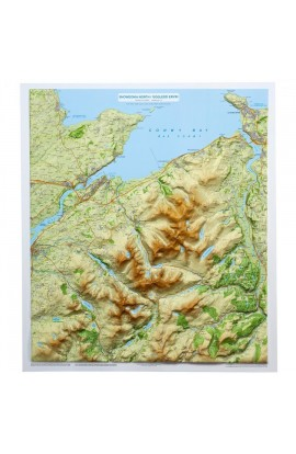 SNOWDONIA RELIEF MAP - FRAMED