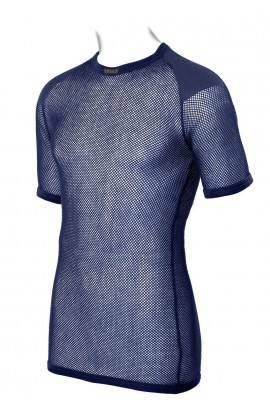 BRYNJE SUPER THERMO T-SHIRT WITH SHOULDER INLAY - NAVY
