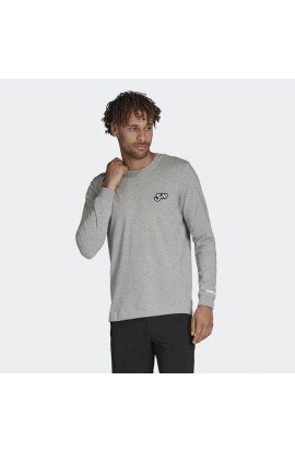 FIVE TEN GRAPHIC LONGSLEEVE TEE - GREY HEATHER