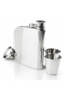 GSI GLACIER STAINLESS 6 FL OZ TRAD FLASK SET