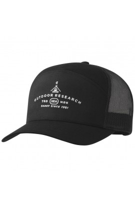 OUTDOOR RESEARCH SHADY 7 PANEL TRUCKER - BLACK