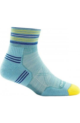 DARN TOUGH VERTEX 1/4 SOCK ULTRALIGHT CUSHION WOMENS - LIGHT BLUE (1017)