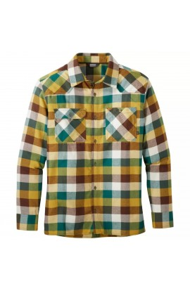 OUTDOOR RESEARCH FEEDBACK FLANNEL SHIRT - BARK PLAID