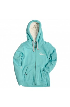 DMM HOODY WOMENS - LAGOON/ORCHID WHITE